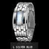Men Silver Blue Led