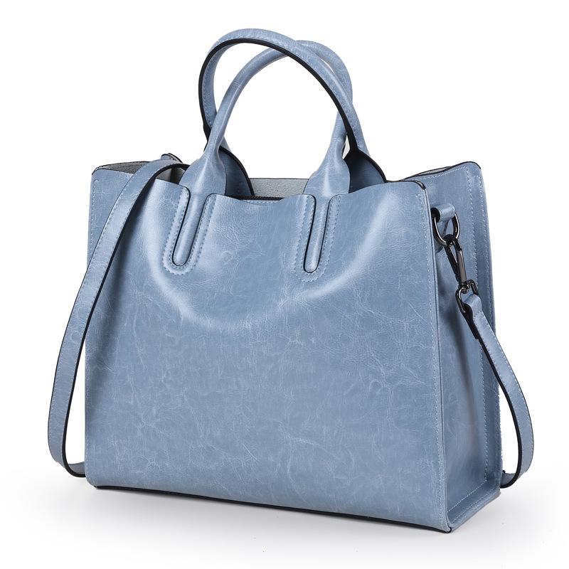 100% Genuine Leather Bags Women S Bucket Famous Brand Designer ... 111f1bcea6713