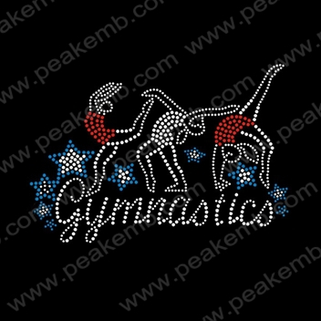 free t shirt transfer templates - free dhl shipping rhinestone gymnastics iron on crystal