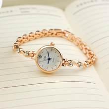 Модные Jw топовые Брендовые Часы с маленьким циферблатом, розовое золото, серебро, женские наручные часы с цепочкой, часы с элегантным камнем...(Китай)