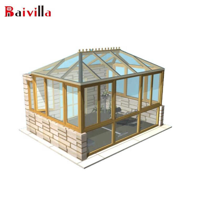 Китайские строительные сборные дома из алюминия и закаленного стекла на заказ