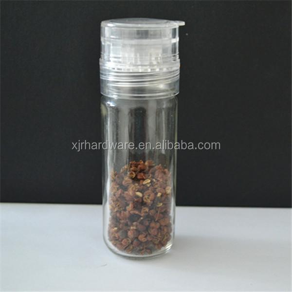pepper and spice grinder glass salt shaker