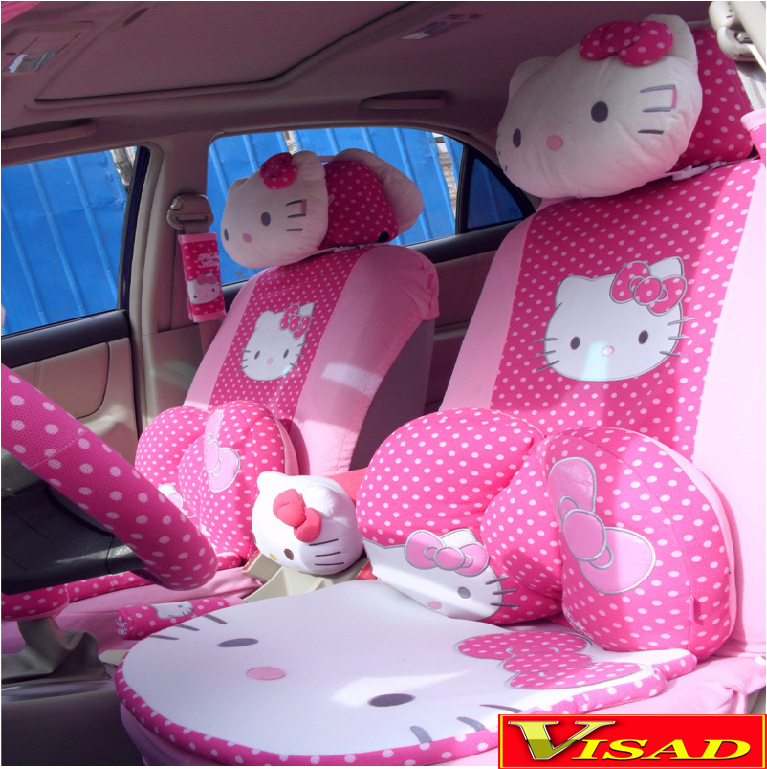 Buy free shipping 29pcs set car covers - Hello kitty car interior accessories ...