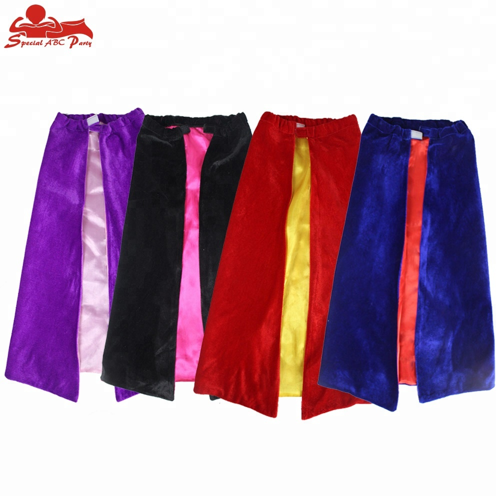 4 Pack Vibrant Kids Superhero Capes Birthday Dress up Party Capes Pretend Play Games Costumes