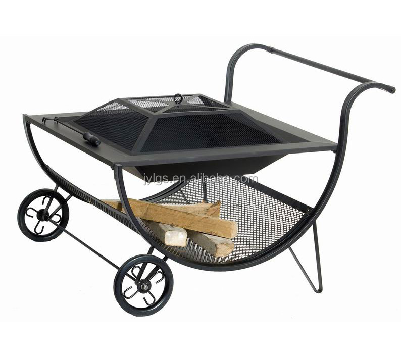Outdoor Wood Burning Steel Patio Fire Pits With Wheels Buy Fire Pit Patio Fire Pit Outdoor Steel Fire Pit Product On Alibaba Com