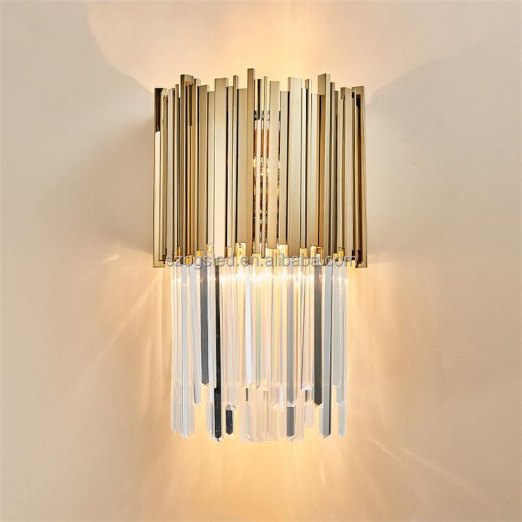 Новый современный настенный светильник, роскошный высококачественный стеклянный Хрустальный настенный светильник для виллы, дома/отеля, от завода zhongshan