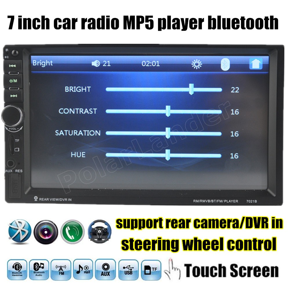 7 Inch Bluetooth Touch Screen Car Audio Stereo MP5 MP4