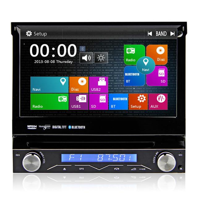 7 cran tactile num rique 1 din lecteur dvd de voiture une din voiture audio panneau amovible. Black Bedroom Furniture Sets. Home Design Ideas