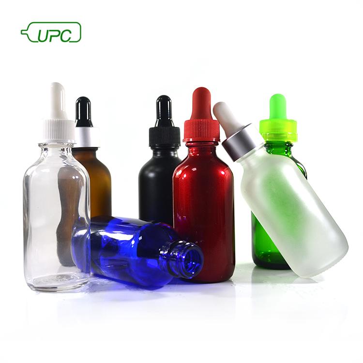 Зеленая стеклянная бутылка эфирного масла 20 мл