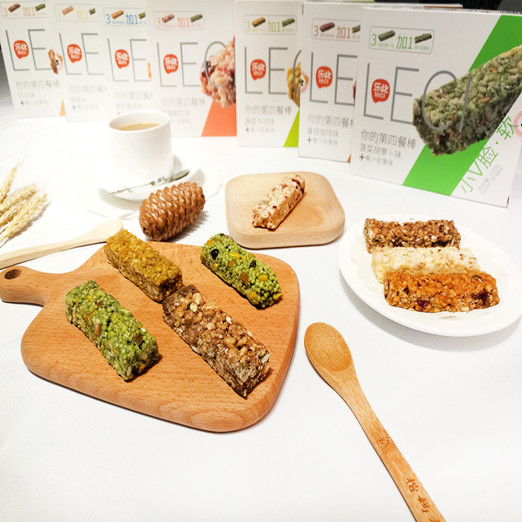 OEM Label Green Juice and Fruit Flavor Nut Snack Bar Protein