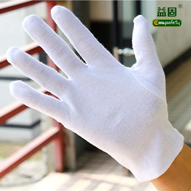 Белый хлопок рабочие перчатки загущающие 100% хлопок перчатки 12 шт. в одной упаковке