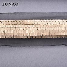 JUNAO 1 ярд 35 мм серебристо-черная Золотая лента с пайетками для шитья ткань лента ручной работы материал Сделай Сам заколки для волос украшени...(Китай)