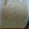 Dorato della maglia del metallo + cristallo