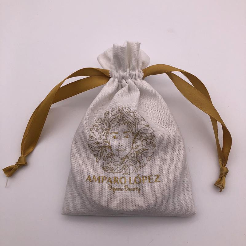 Изготовленные на заказ мешочки для ювелирных изделий из льняной ткани