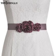Женское платье с цветами TOPQUEEN, синее платье с поясом для свадьбы, 7 цветов, S226(Китай)