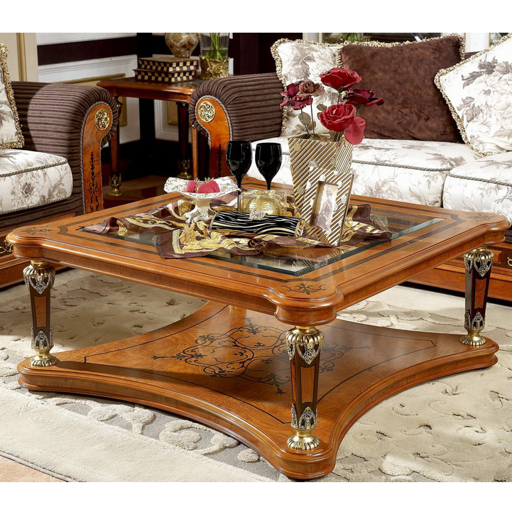 Yb29 Antique Solid Wood Luxury Hand Carved Living Room Furniture Glass Top Square Coffee Table Buy Solid Wood Coffee Table With Glass Top Glass Top Wood Base Coffee Table Living Room Furniture Centre