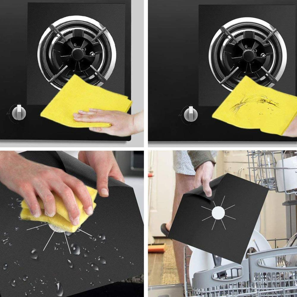 2020 Amazon Stove Top Liner Washable Heat Resistance Gas Range Protectors Easy To Clean for Stove Burner Covers gas cooker part