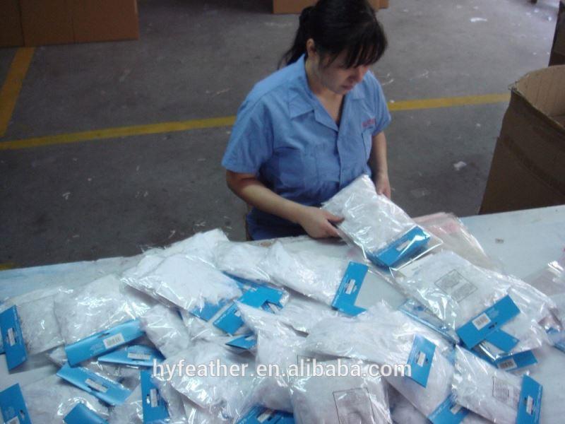 Натуральное серое утиное перо 2-3 дюйма для оптовой продажи