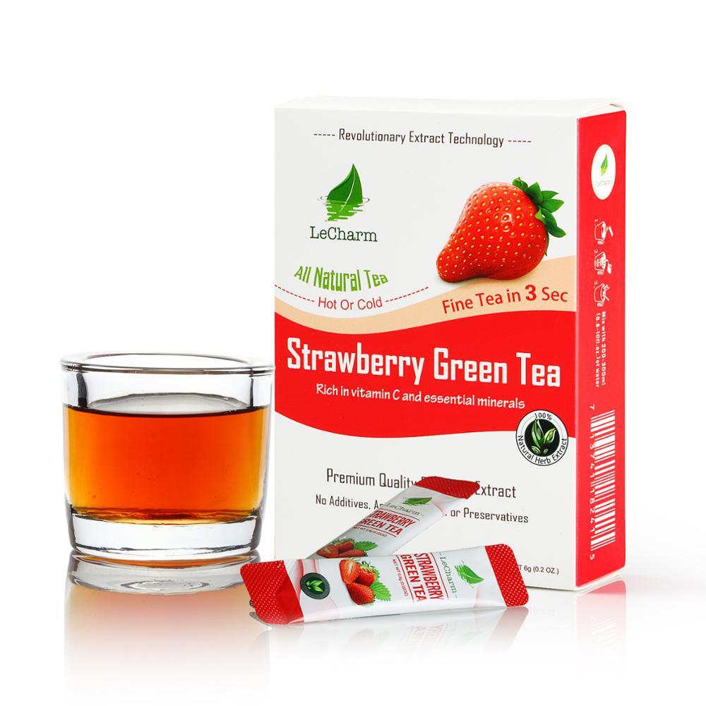 Fruit Flavor Instant Tea Great Taste Strawberry Green Tea Extract - 4uTea   4uTea.com