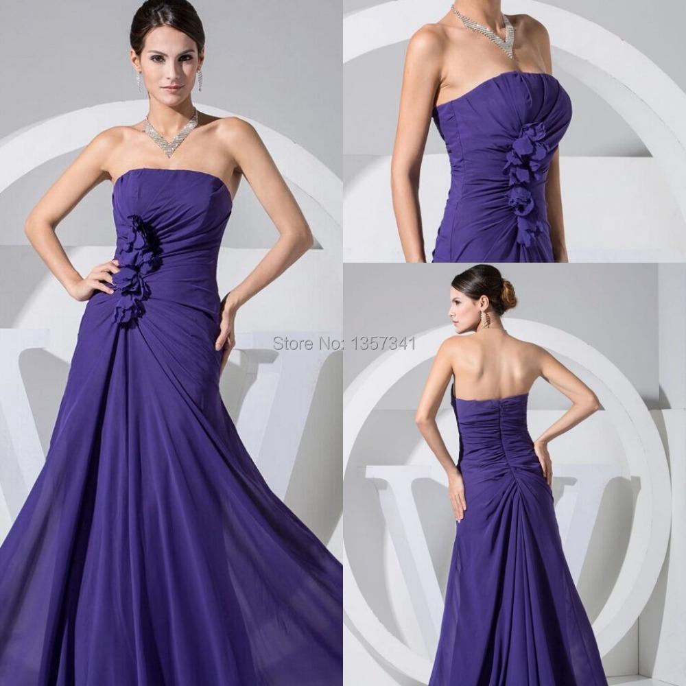 Sexy purple long dress
