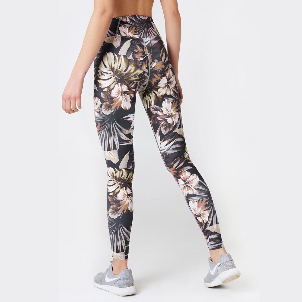Хит продаж, бесшовные леггинсы из дышащей ткани с цветочным принтом для женщин, спортивная одежда с индивидуальным рисунком для тренажерного зала