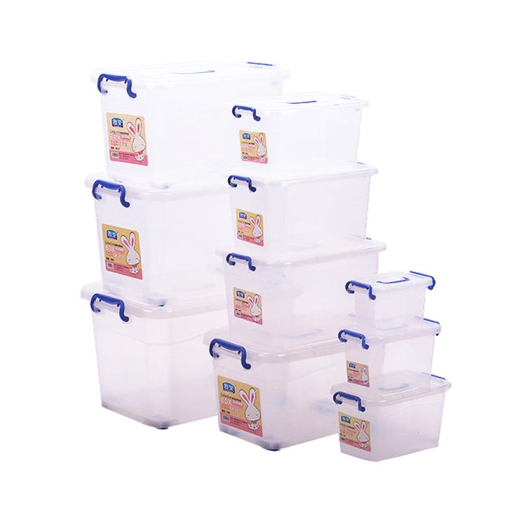 Оптовая продажа, прозрачный пластиковый ящик для хранения и организации жилых объемом 6,5 л