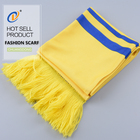 Custom Scarf Scarf Supplier Sample Free Hot Sale Custom Printed Fans Football Knitted Scarf