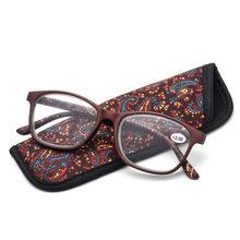 Ультралегкие небьющиеся очки для чтения, диоптрий с цветами, женские модные прозрачные Брендовые очки для пресбиопии # RD8565(Китай)
