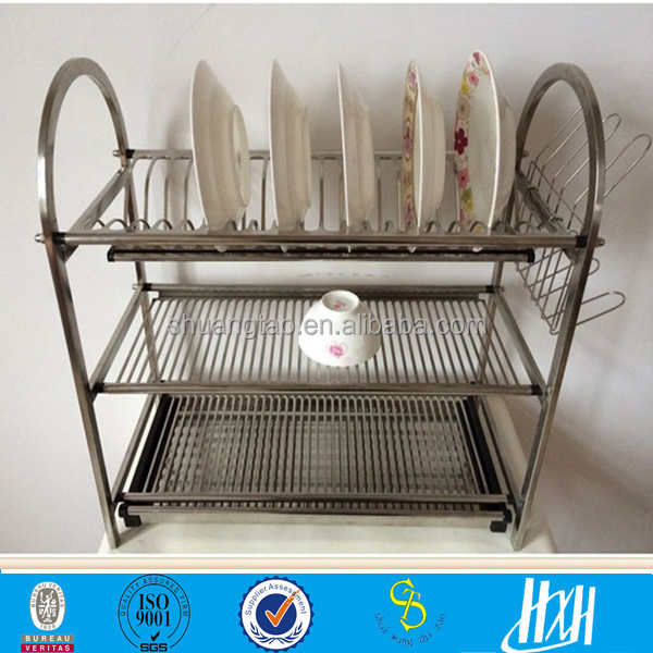 Professional Production Kitchen Stainless Steel 3 Tier Dish Rack Buy 3 Tier Dish Rack Kitchen Dish Rack Kitchen Cabinet Dish Rack Product On Alibaba Com