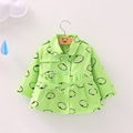 Baby Girl Trench 2016 Spring Fall Next Kids Outerwear Coats Girl Cotton Jacket solid DOT Hooded