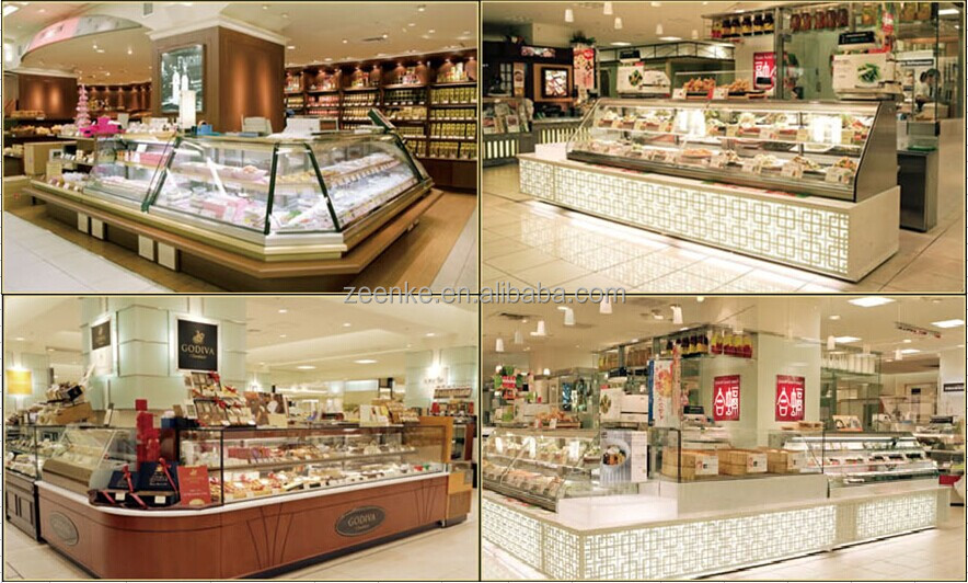 Upright Cake Showcase Pasetry Display Cabinet Refrigerated