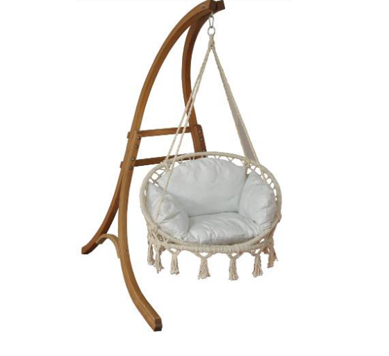 Outdoor Wooden Hanging Chaise Lounger Arc Stand Hammock Swing Chair Stand Buy Wooden Hammock Stand Wooden Hammock Stand Arc Hammock Chair Stand Product On Alibaba Com