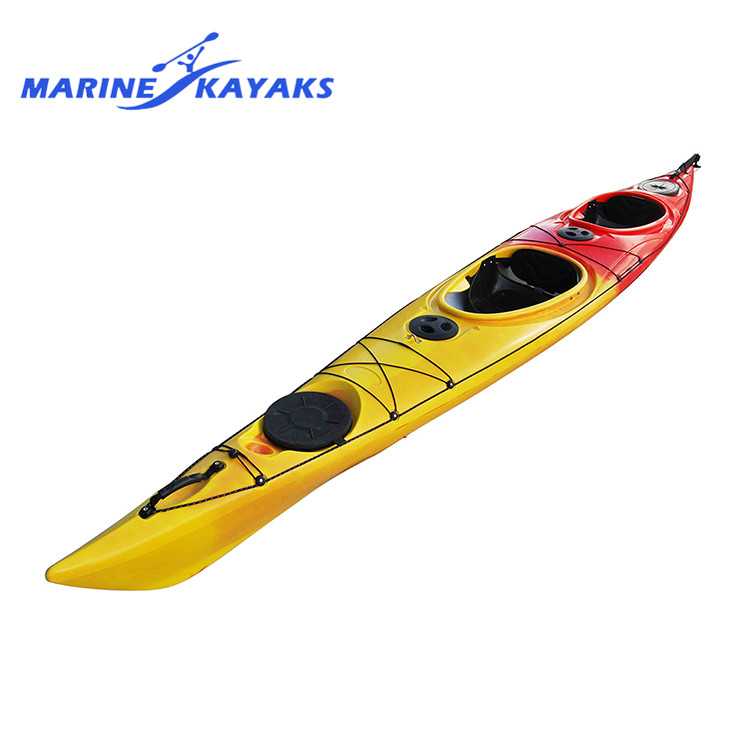 Factory Wholesale 2 Person Touring Canoe Sit In Kayak Sale Double