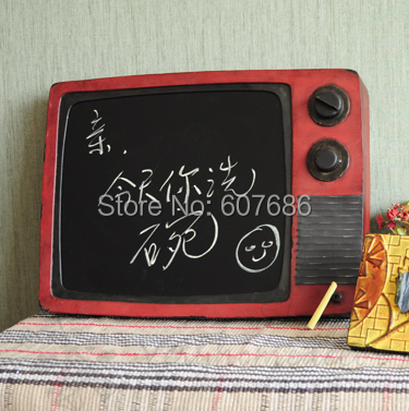 antique metal tv shape message board wall mounted iron message board for cafe bar hotel store. Black Bedroom Furniture Sets. Home Design Ideas