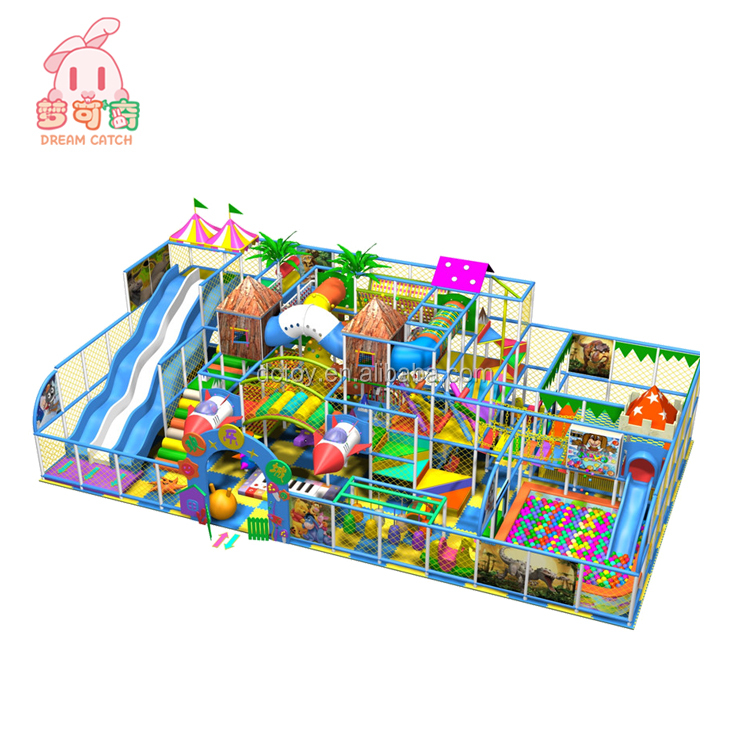high quality children indoor play house/baby slide and swings playground equipment