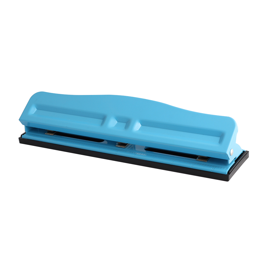Wideny Hot-sale Office and Home 12 sheets capacity round shape 3-hole Metal paper hole punch