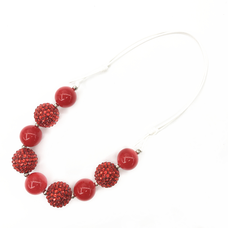 Wholesale Bubblegum Chunky Kids Necklace Handmade Toddler Necklace Chunky Beads