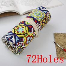 Школьный чехол для карандаша, 36/48/72 отверстий в рулоне, переносной пенал, школьные принадлежности(Китай)