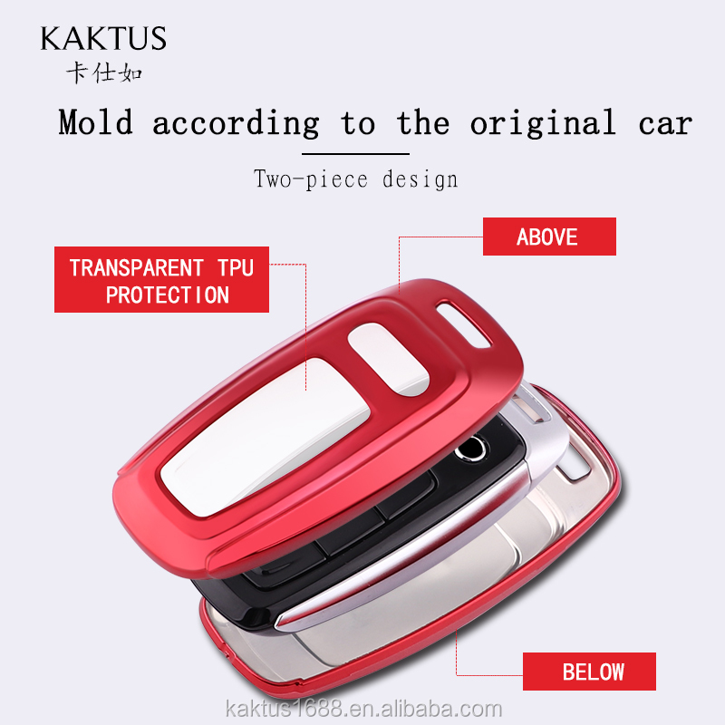 For AUDI 18A6L A7 A8L 19A7 A8 Q8 Car Key Case TPU protect Cover Carkey shell