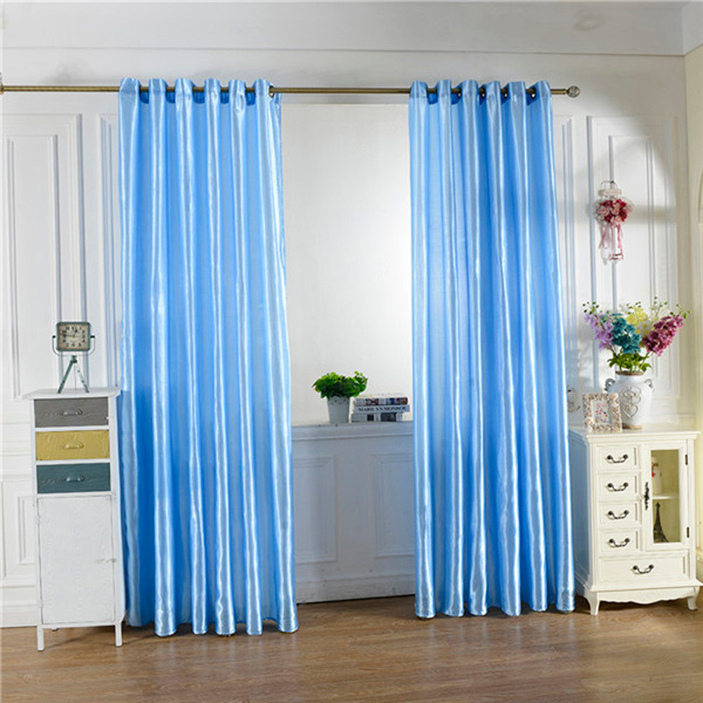 2019 Blue Curtains For Bedroom Home Decoration Window Treatments Door Drap  Blackout Curtains For Kids Living Room Gordijnen From Windomfac, $42.84 |  ...