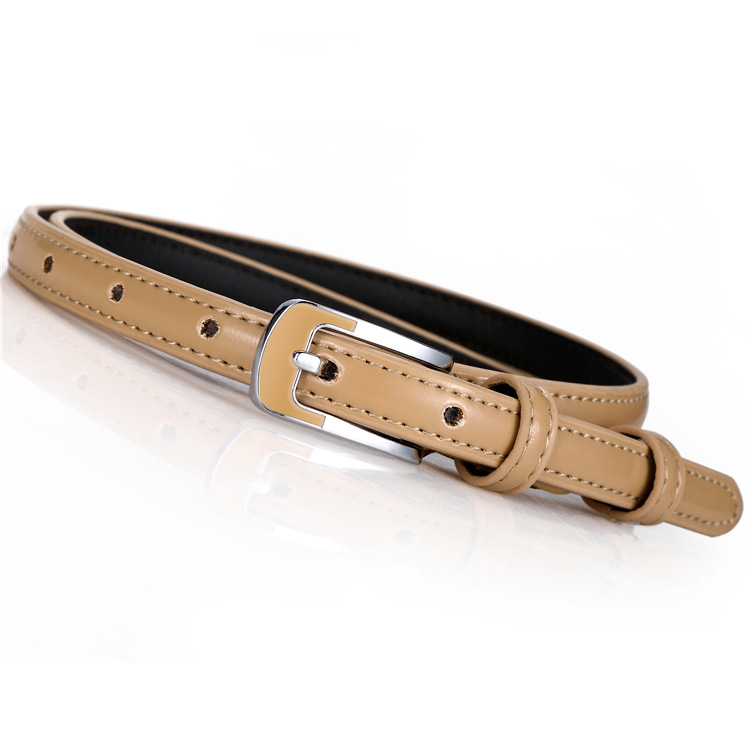 faux leather skinny thin 15mm fashion waist ladies womens leather belt