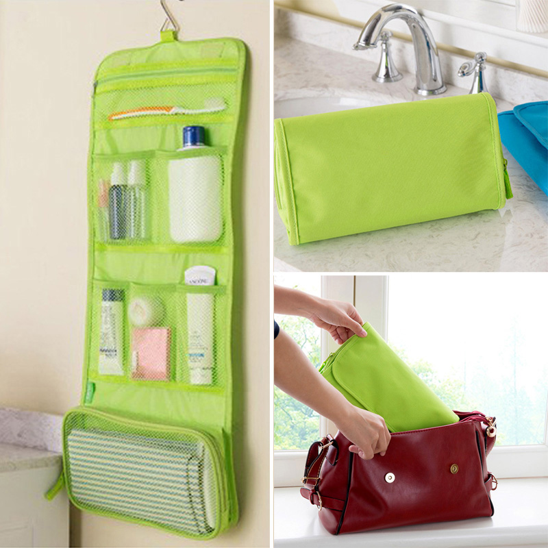 Detail Feedback Questions about Waterproof Hanging Storage Bag Makeup Kit Travel  Toiletry Wash Cosmetic Pocket Travel Luggage Packing Mesh Pouch Storage ... 476a6fc3ede72