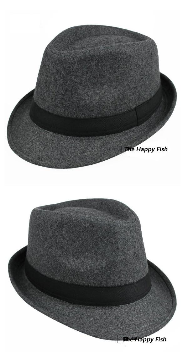 ... Original Unisex Structured Wool Fedora Hat Fedora hats for men fedora  felt hat (9) ... 499132d9aca0