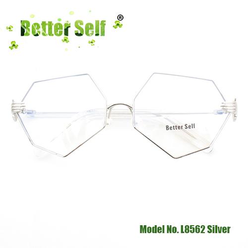 Лучше себя L8562 нерегулярные очки Плоские очки персонализированные очки жемчужные носоупоры декоративные оптические оправы ретро очки(Китай)