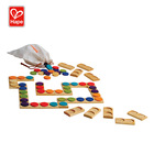 Domino Wood For Kids Play Learn Game Colorful Wooden Domino