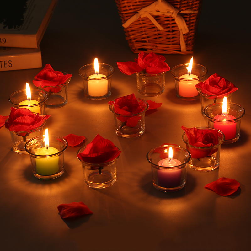 1 X Romantic Candlelight Dinner Handmade Glass Candle Cup