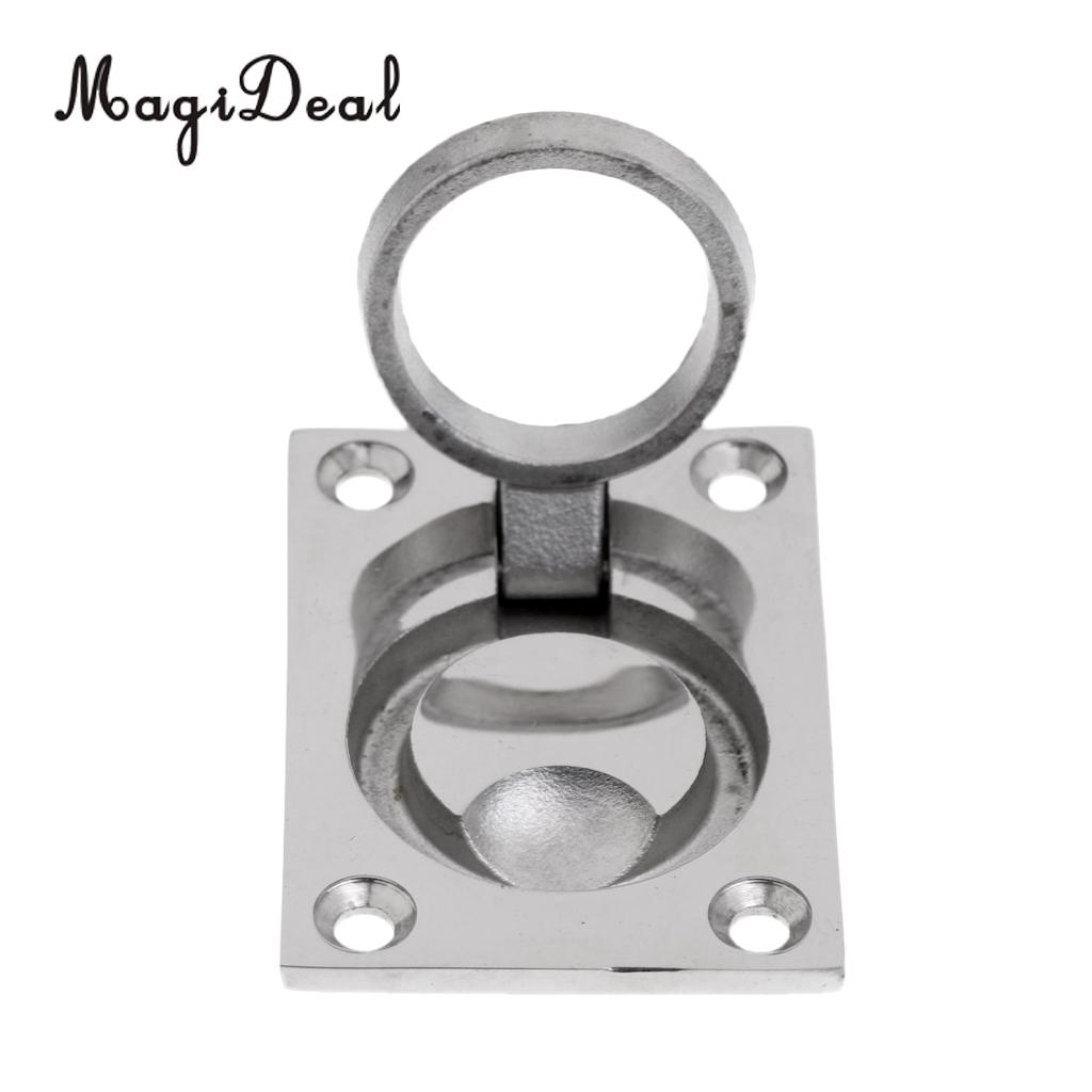 MagiDeal New Durable Stainless Steel Boat Hatch Latch Cabinet Flush Mount  Ring Pull Handle 62x43mm Marine Surfing Hardware Acce
