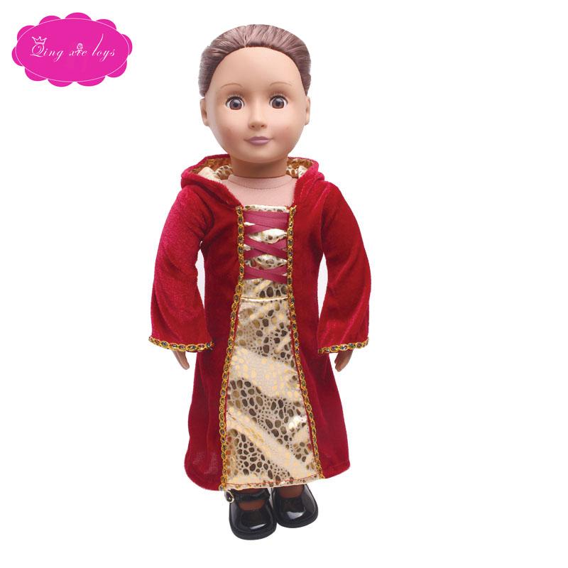 18 дюймов, одежда для девочек, куклы костюм принцессы Анны, Супермена, ведьмы платье для новорожденных в американском стиле с шапкой Детская ...(Китай)