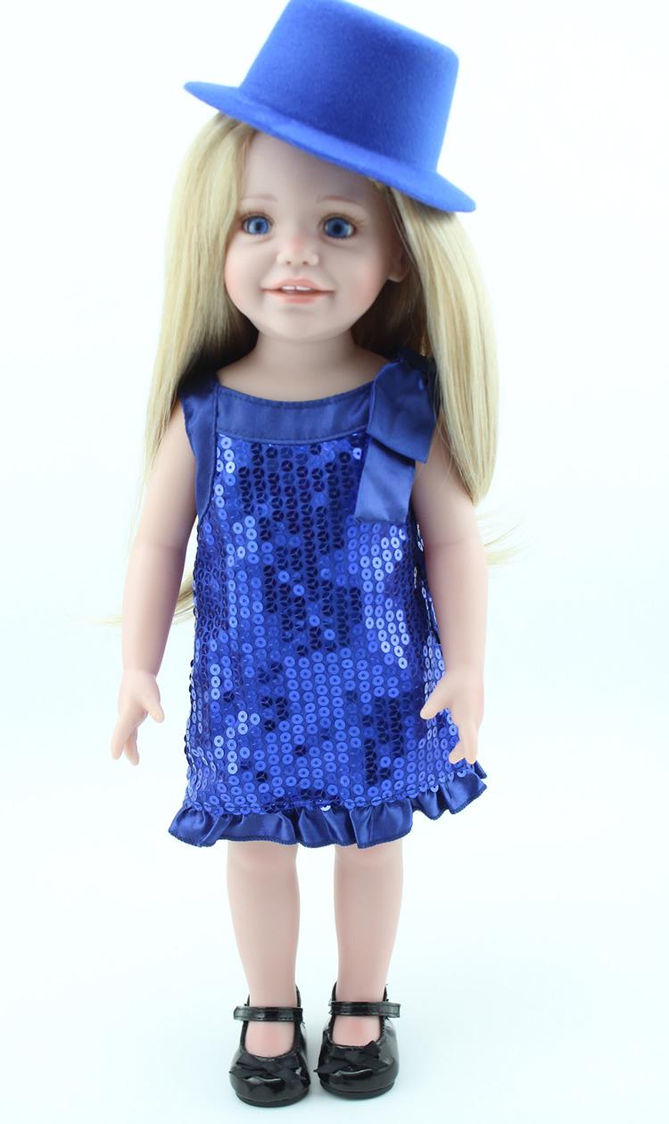 fashion 18 Inch Full Vinyl American Girl Doll Just Like ...