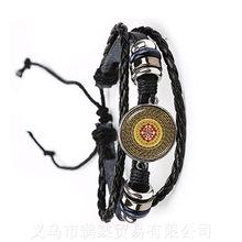 Индийский счастливый цветок ювелирные изделия религиозные мандаласбраслет регулируемые Zen амулеты стеклянный браслет из кабошона Ом Йога ...(Китай)